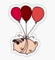 Ballon Mops Sticker