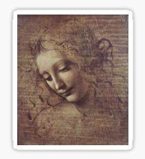 Leonardo Da Vinci - Head Of A Young Woman With Tousled Hair Or Leda Sticker