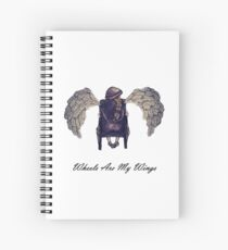 Wheels Are My Wings Spiral Notebook