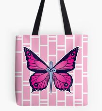 Bolsa de tela Ocean Butterflies Part 2 - Pale Pink