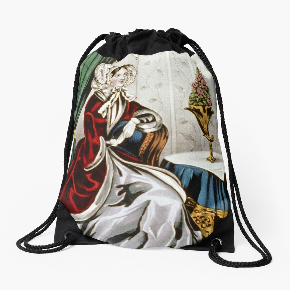 Eliza - 1848 - Currier & Ives Drawstring Bag Front