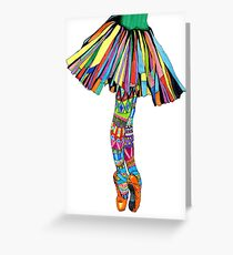 Happy Ballerina Greeting Card