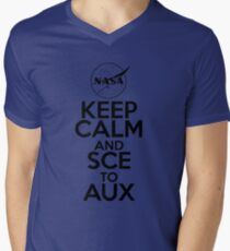 Keep Calm and SCE to AUX Men's V-Neck T-Shirt