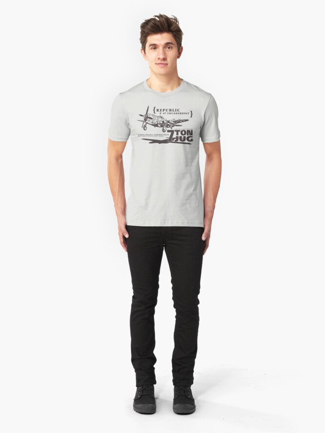Alternate view of P-47 Thunderbolt Slim Fit T-Shirt