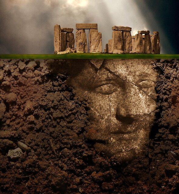 Stonehenge - the king waits by Christina Brundage