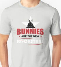 Bunnies are the new rockstars Unisex T-Shirt