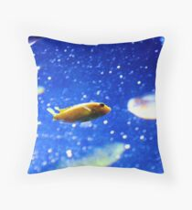 Space Traveling Fish Throw Pillow