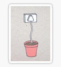 Plant Plug Sticker