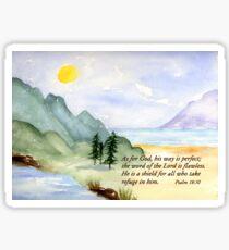 Gods way -  Psalm 18:30 Sticker