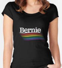 Bernie Pride - Rainbow Flag  Women's Fitted Scoop T-Shirt