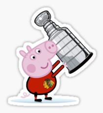 Chicago Blackhawks Fan with Stanley Cup Sticker