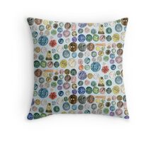 Buttons buttons buttons Throw Pillow