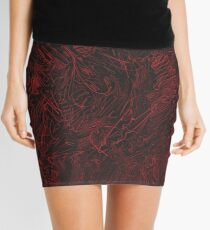 Red hours Mini Skirt