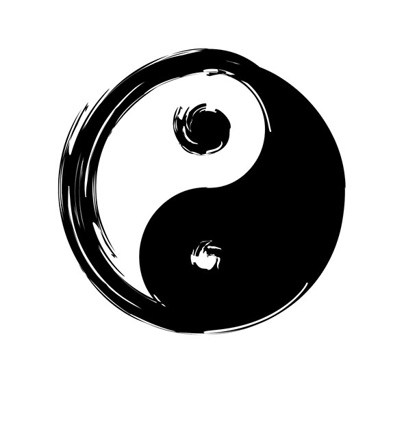 Ying Yang Symbol by deificusArt
