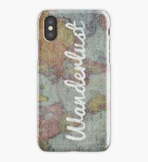 Wanderlust on Vintage World Map iPhone Case/Skin