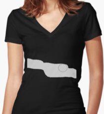 Erased Women's Fitted V-Neck T-Shirt