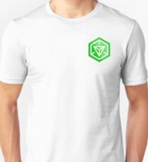 Ingress Game Log over left Breast - Green (Enlightened) Unisex T-Shirt