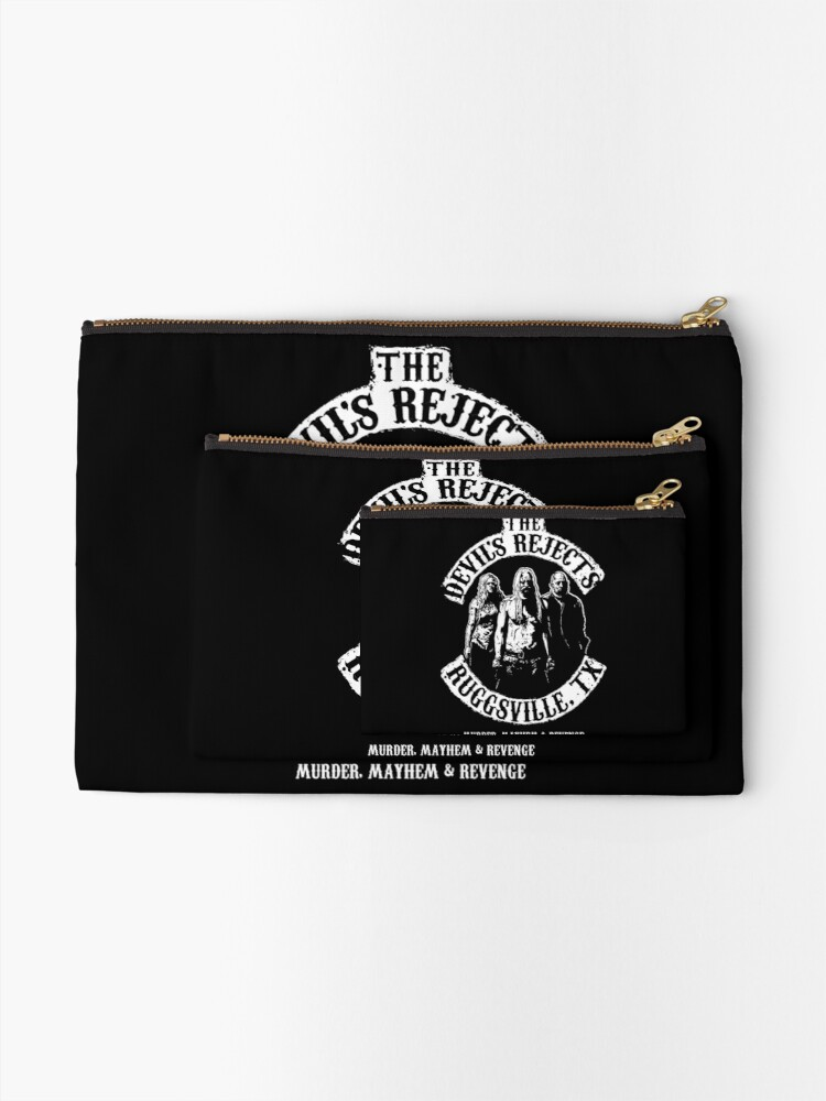 Alternate view of Devils Rejects, Ruggsvile, TX Zipper Pouch