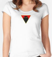 Space Ghost - Chest Symbol - White Clean Women's Fitted Scoop T-Shirt