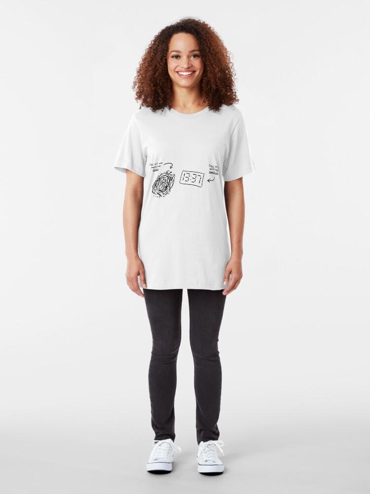 Alternate view of Ptilouk.net - Digital/Numérique Slim Fit T-Shirt