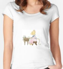 LETTER MOUSE Women's Fitted Scoop T-Shirt