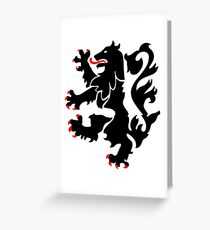 28th Infantry Black Lions Greeting Card