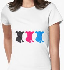party pattern design colorful many dj music shirt koala pink cool comic blue Womens Fitted T-Shirt