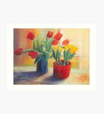 Sehnsucht nach Frühling - Tulpe Kunstdruck