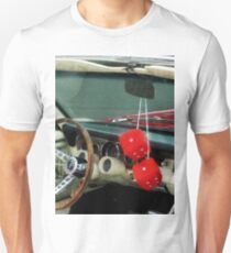Red Fuzzy Dice In Converible Unisex T-Shirt