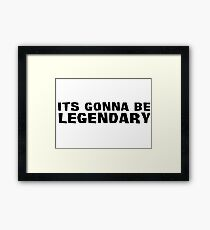 How I Met Your Mother Tv Show Quotes Framed Print