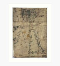 198 Map of vicinity of Winchester Kernstown Art Print