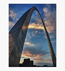 Sunset Under the Gateway Arch 001 Photographic Print