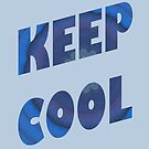 Keep Cool Tilted Image-filled Letters by Linda J Armstrong