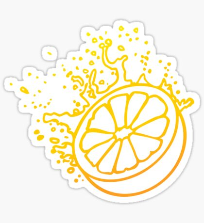 Juicy Orange Fruit VRS2 Sticker