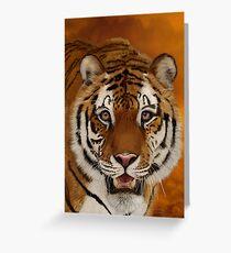 Siberian Tiger - Head Study Greeting Card