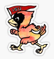 Watercolor Cy - Iowa State University Mascot Sticker