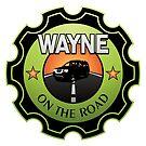 Wayne On The Road - Badge Logo 2 by Wayne Stadler