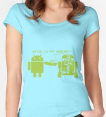 ARTOO IS MY HOMEBOY Women's Fitted Scoop T-Shirt