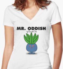 Mr. Oddish Women's Fitted V-Neck T-Shirt