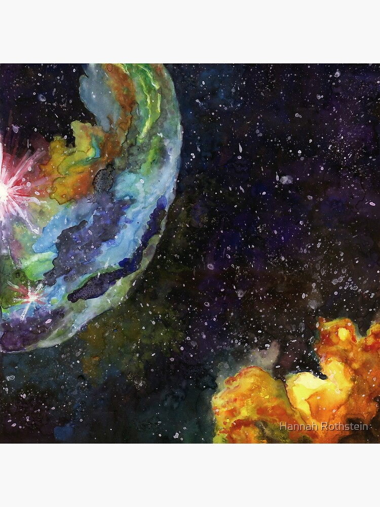 Bubble Nebula Outer Space Art Poster