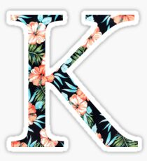 Kappa Floral Greek Letter Design Sticker