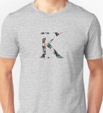 Kappa Floral Greek Letter Design T-Shirt