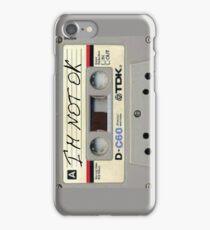 im not ok casette vertical iPhone Case/Skin