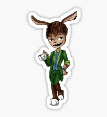 March Hare Sticker Sticker