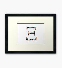 XI Floral Greek Letter Design Framed Print