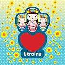 Love Ukraine - Three Babushka Matryoshka Dolls by MaShusik