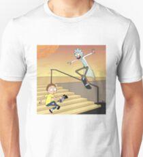 Rick and Morty Skateboarding Unisex T-Shirt