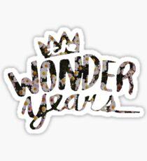 The Wonder Years Floral Sticker