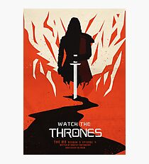 Watch the Thrones Photographic Print