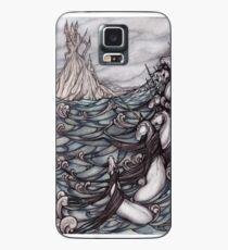 Funda/vinilo para Samsung Galaxy Unicornios en el mar